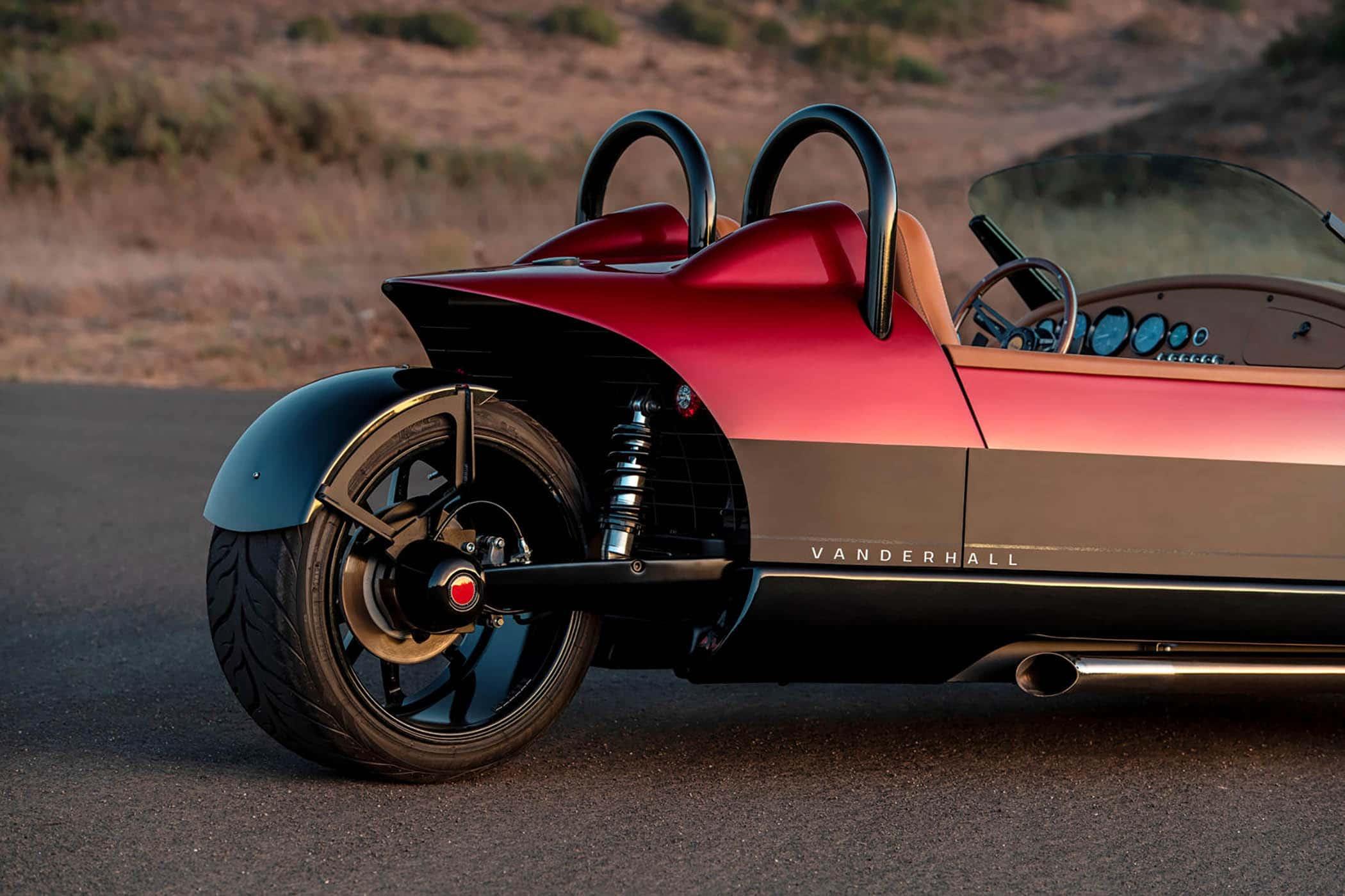 vanderhall-carmel GT red-rear-wheel