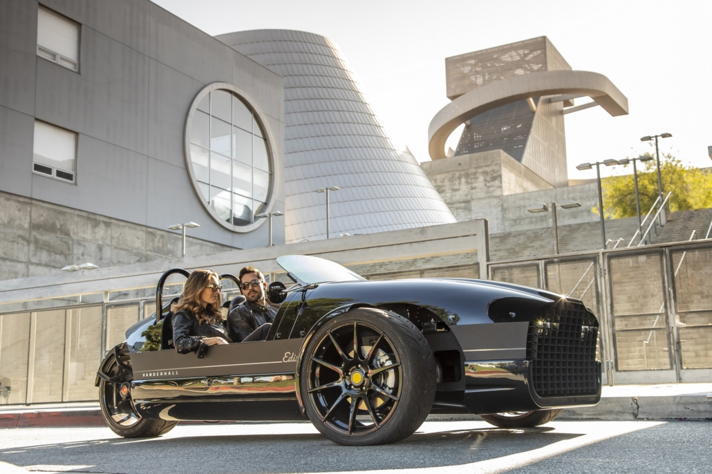 Vanderhall Edison 2, the first full electric Vanderhall in glossy black