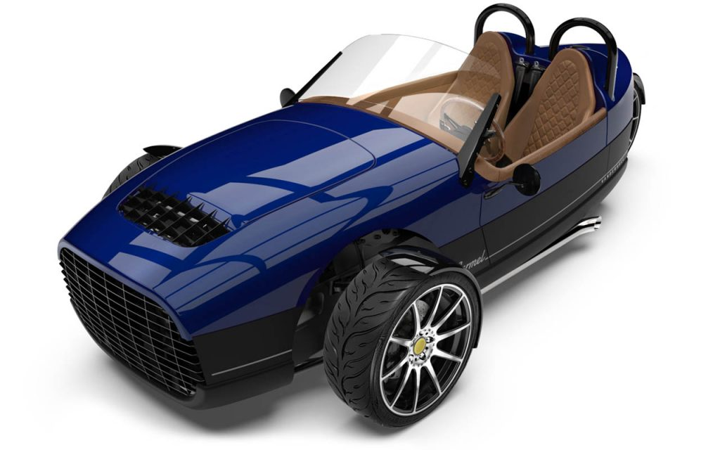 High front View of the Carmel GTS in Royal Blue Exterior