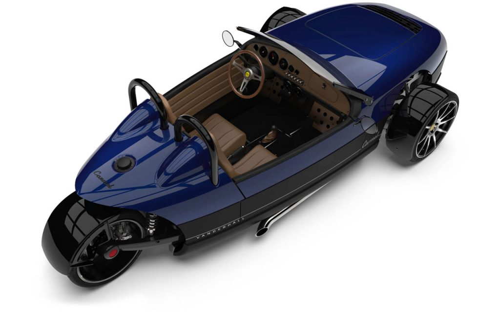 High Rear view of the Carmel in Royal Blue exterior