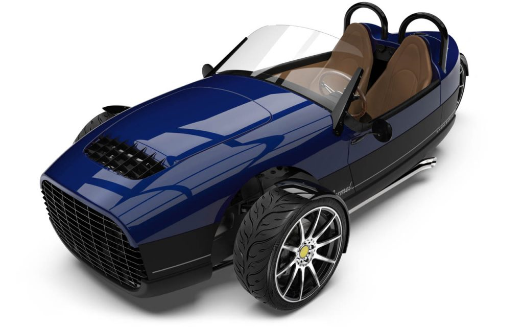 High front view of the Carmel in Royal Blue exterior