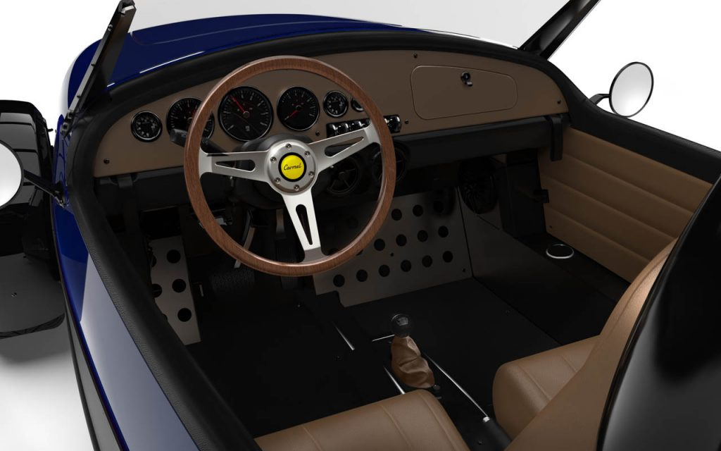Interior of the Carmel with Royal Blue Exterior
