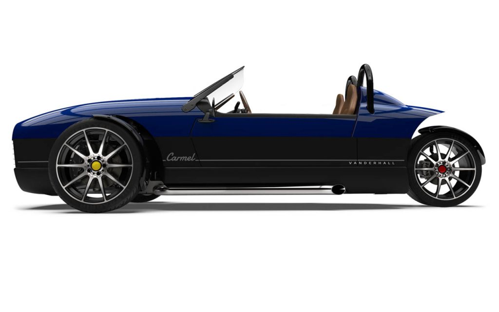 Side view of the Carmel in Royal Blue exterior