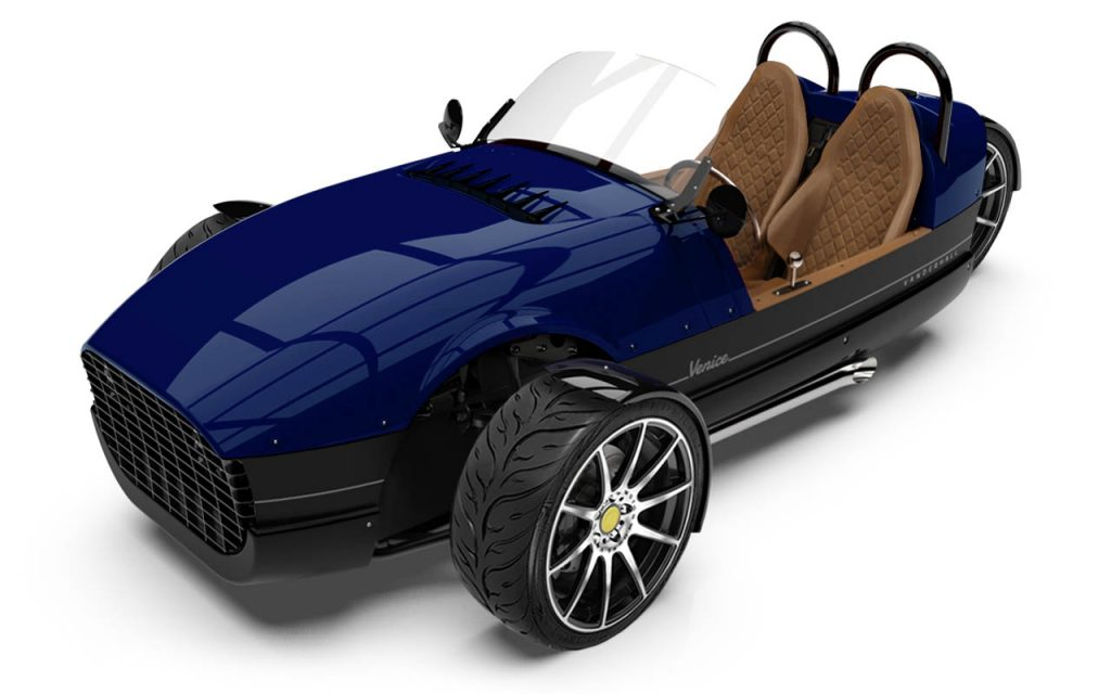 High front view of the Venice GTS in Royal Blue Exterior