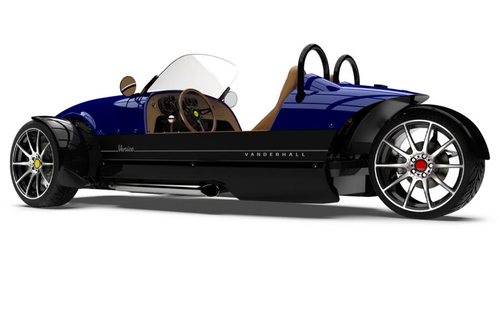 Side Rear view of the Venice GTS in Royal Blue exterior