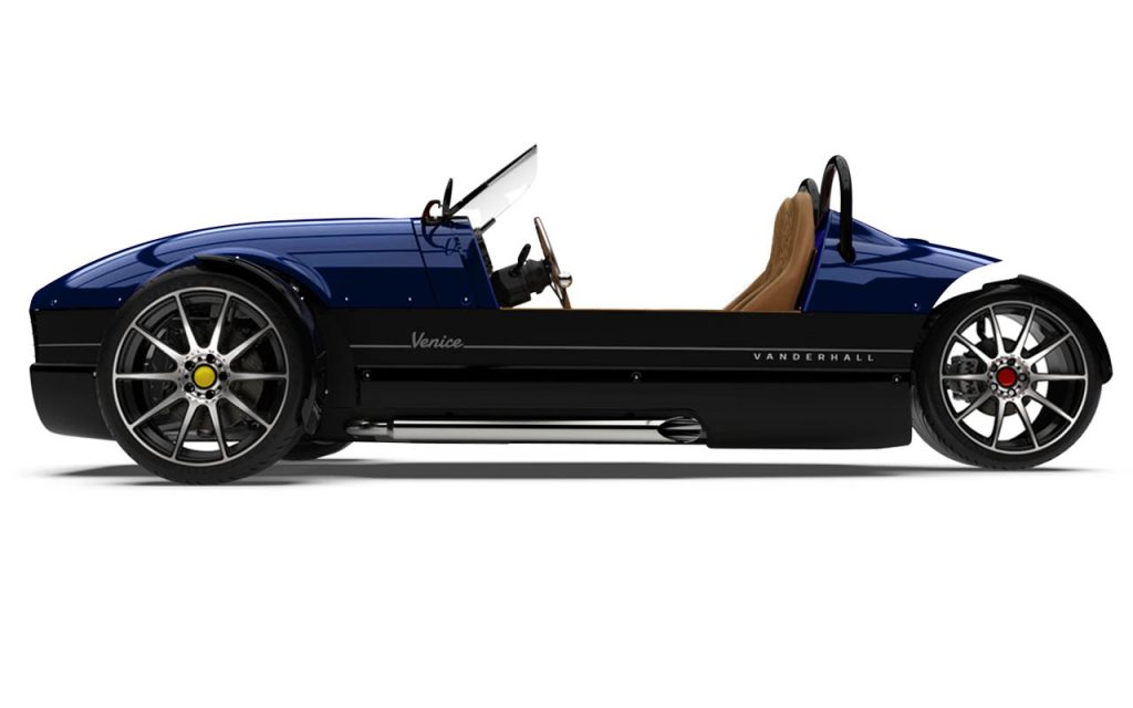 Side view of the Venice GTS in Royal Blue exterior